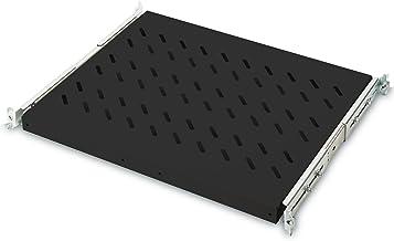 DIGITUS Uittrekbare plank voor kasten van 19 inch, 1 HE, bevestiging voor en achter, draagvermogen 25 kg, vanaf 600 mm kas...