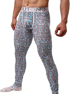 hunpta Mens Winter Thermal Tight Compression Base Layer Pants Long Leggings Trousers