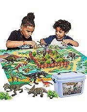 Buyger 58 stuks dinosaurusspeelgoed met speelmat en bomen, dinosaurusfiguur inclusief Tyrannosaurus Rex, cadeaus voor kinderen van 3 tot 5 jaar