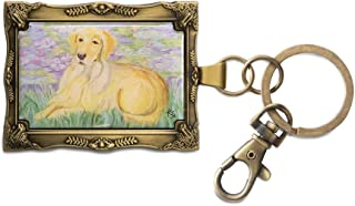 Pavilion Gift Company 12020 Paw Palettes Keychain, 2 by 2-3/4-Inch, Golden Retriever Bonet