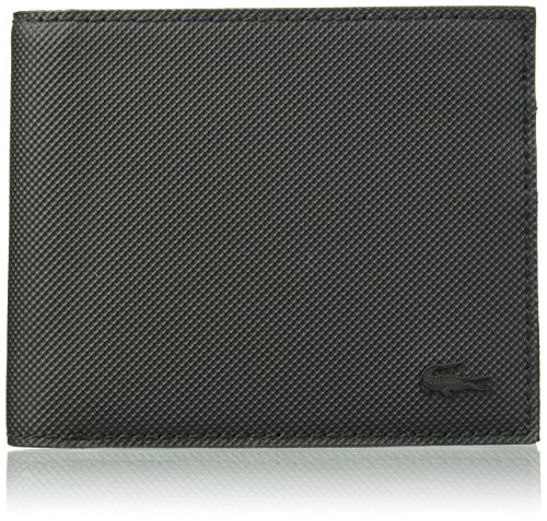 Lacoste Men's S Classic S Billfold Coin, Black, One Size