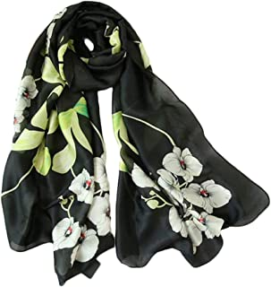 Fashion Women Long Silk Satin Scarf Printing Paragraph 180 * 90cm Sunscreen Holiday Shawl (Color : 01, Size : 180 * 90cm)