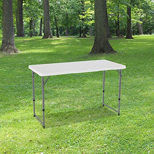 Table Pliante 120 cm d'Appoint Rectangulaire...