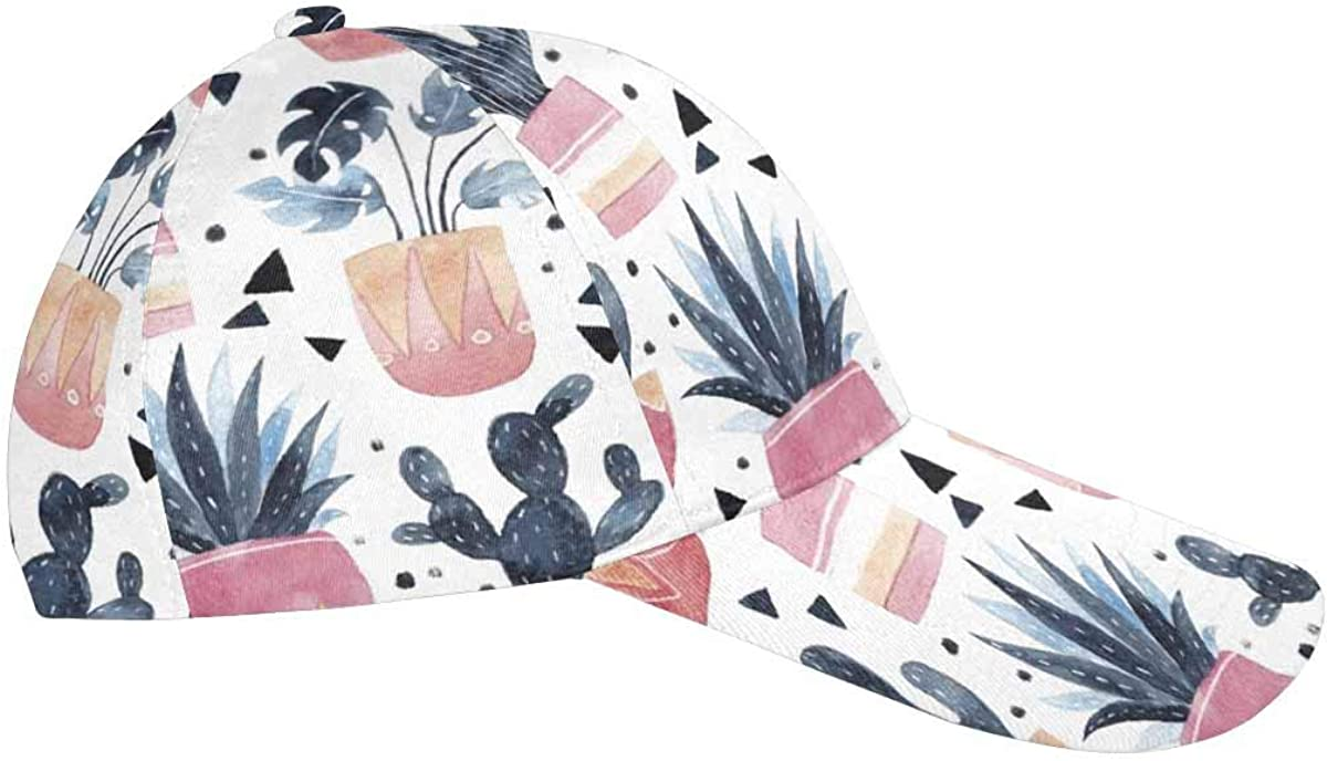 InterestPrint Cactus Poppy Tulips Flowers Adjustable Unisex Men Women All Over Print Dad Caps Classic Baseball Hats