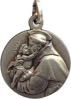 Medaglietta Sant'Antonio di Padova In Argento 925-925 Sterling Silver Medal Saint Antony of Padua