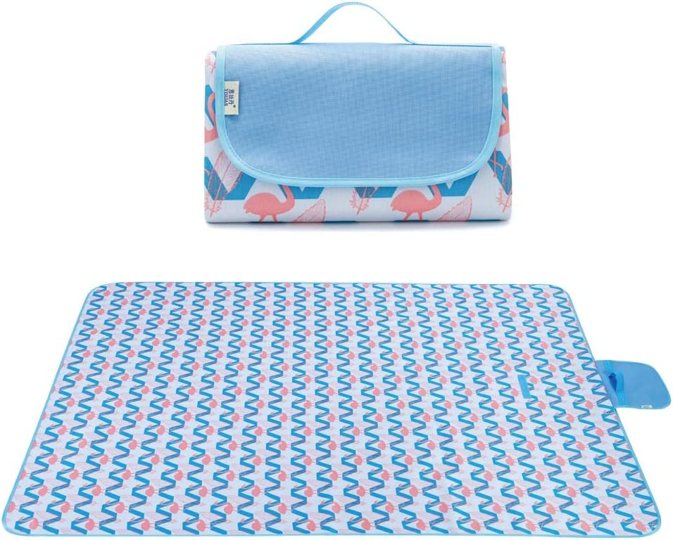 Gff Picnic Blankets Outdoor Carpet Easy-to-use Miami Mall Backing Large Mat Waterproof