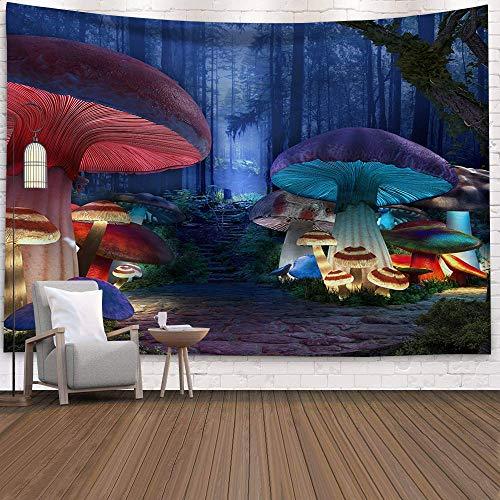 KHKJ Hippy psicodélico Tapiz de Hongos de ensueño hogar Dormitorio Cuento de Hadas Abstracto Tapiz Colgante de Pared decoración Toalla de Playa A13 95x73cm