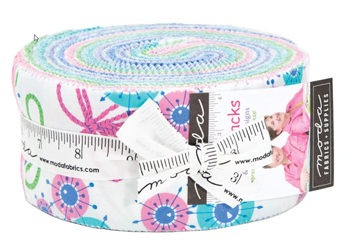 Flower Sacks Jelly Roll 40 2.5-inch Strips by Me and My Sister Designs for Moda Fabrics 22350JR