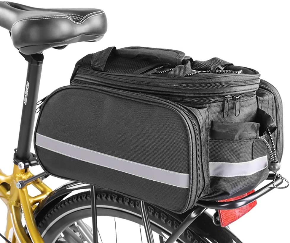 HLR Bike Panniers High order Rack Department store Trunks Bicycle Duffel 27L Bag Rear Seat