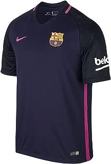 Nike Men's Barcelona 2016/2017 Away Soccer Jersey (Purple) Large