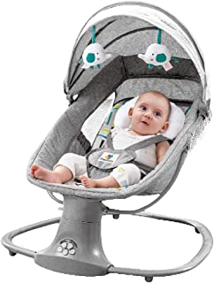 Baby Swing 3in1 Leaf Deluxe Bassinet Grey Baby Cradle Rocking Upto 3 Years