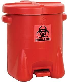 Eagle 947BIO Red Biohazard Waste Can, 14 Gallon