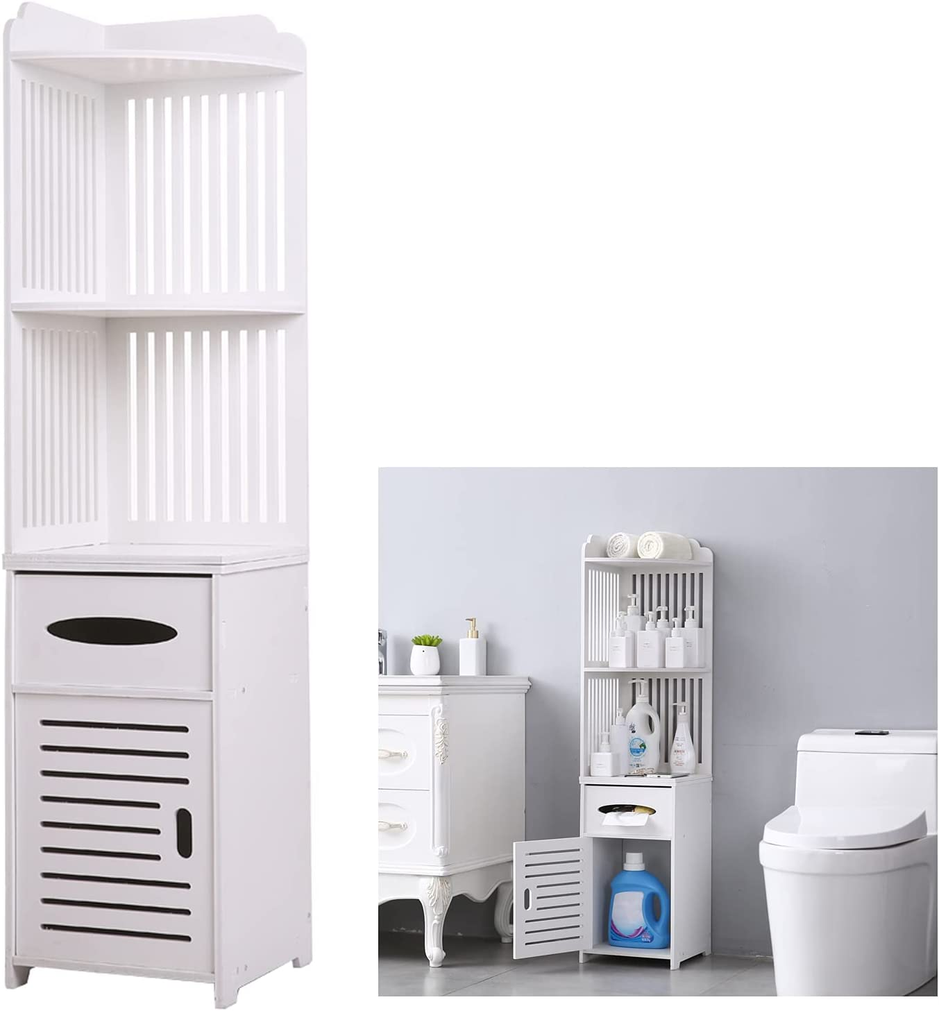Small Bathroom Storage Toilet Paper Cabinet Corner Free shipping on posting reviews Some reservation Floor