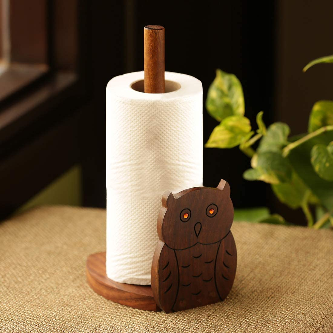 Bombing free shipping Kansas City Mall ExclusiveLane 'Owl 'n' Roll' Paper With Hand Holder Roll Napkin