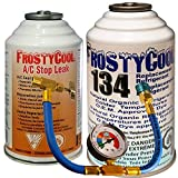 FrostyCool Kit Reparation Complet colmate et Recharge pour gaz R134a clim Auto Voiture équiv. Duracool véhicules fabriqués Entre 1994 et 2012