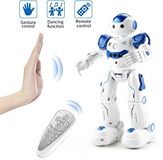 EAHUMM Rc Robot Toys for Kids Rechargeable Intelligent Programmable Robot with Infrared Controller, Remote Control Robots Gesture Sensing Robot for Boys.