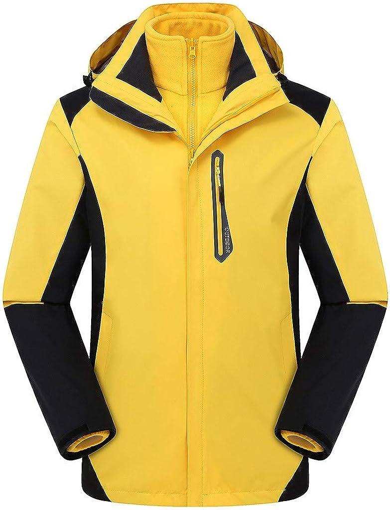 SOMESHINE Men Hooded Waterproof Jacket Lightweight Rain Jacket Outdoor Sportswear Warm Winter Snow Coat Windbreaker Raincoat