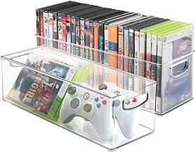 mDesign lot de 2 boîtes de rangement – organiseurs de tiroirs pour stockage pour CD,..
