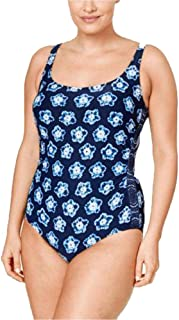 Plus Size Kanoko Printed One-Piece Swimsuit