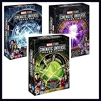 Marvel Cinematic Universe - Phase One Two and Three - Marvel 17 Movies Blu Ray Set