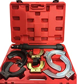 MILLION PARTS Universal Interchangable Fork Strut Coil Clamp Spring Compressor Extractor Tool Set Kit w/Case