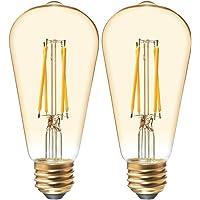 Deals on 2-Pack GE Lighting 60 Watt LED Vintage Light Bulb