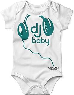 Mikalino Babybody mit Spruch für Jungen Mädchen Unisex kurzarm DJ Baby   handbedruckt in Deutschland   Handmade with love