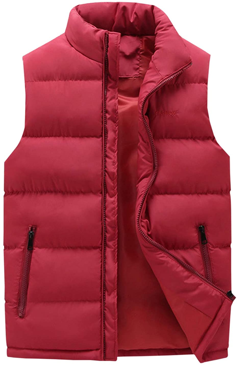 Gihuo Men's Winter Quilted Padded Puffer Vest Body Warmer