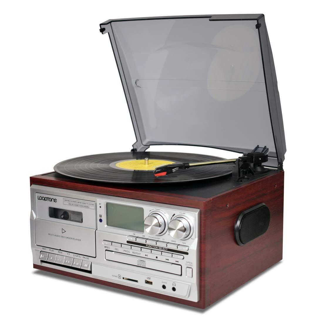 LoopTone Bluetooth Turntable Cassette Recorder