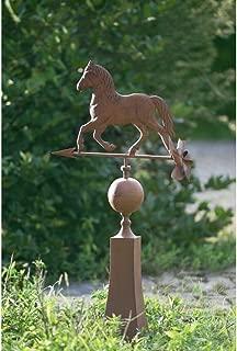 Sunjoy 110310002 Vintage Horse Weather Vane Made of Metal, Brown