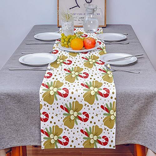 VFGHH Camino De Mesa,Mantel Lavable Rectangular De Caramelo Navideño De Estilo Nórdico para Mantel De Cocina, Mantel para Fiestas, Restaurantes, Decoración para El Hogar, 41 * 183 Cm