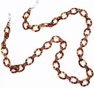 KAI Top Handmade Retro Eyeglass Chain Acetate Link Chunky Eyewear Strap Holder