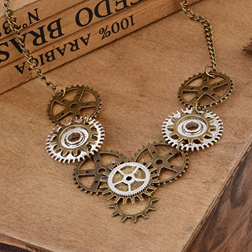 knowing Steampunk Rock Gears Pendant,Exquisite Gear Steampunk Pendant Necklace Long Chain,Gear Steampunk Pendant Necklace,Copper steampunk buy now online