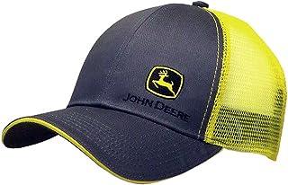 John Deere Grey with Yellow Mesh Backing Snapback Hat - 13080428CH00