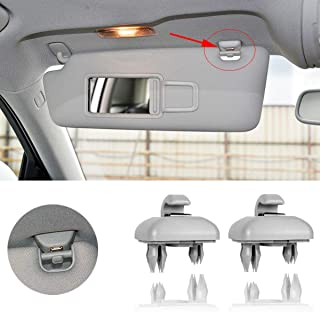 Porpor Booya 2-Pack Interior Sun Visor Hook Clip Bracket for Audi A1 A3 A4 A5 Q3 Q5(8E0 857 562) (Grey)