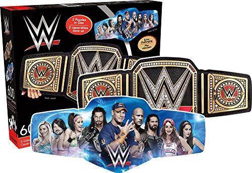 Aquarius WWE Cintura Doppi Lati a Forma di 600 Pezzi Puzzle (NM)