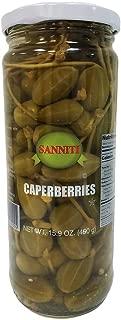 Sanniti Spanish Caperberries (Caper Berries) in Vinegar and Salt Brine - 16 oz