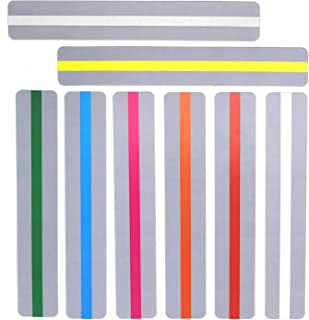 WeTest 16 Pieces Guided Reading Strips, Highlight Strips Colored Overlays Colorful Bookmark Helps with Dyslexia for Children and Teacher Teaching (LJ-JSL-112701)