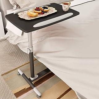 AINIYF Adjustable Rolling Laptop Stand Mobile Laptop Computer Desk Cart Height-Adjustable Folding (Color : Black)