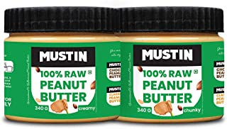 Mustin All Natural Peanut Butter Creamy(340g), All Natural Peanut Butter Chunky(340g)