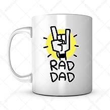 Rad Dad-Father's Day Gift Mug Ideas Funny Cartoon Coffee Mug Quotes Sayings for Dad/Father in Law Birthday Gift from Son/Daughter Lead Free Ceramic 11OZ Personalized Tea Mug Dad Mug Gift Mug (1)