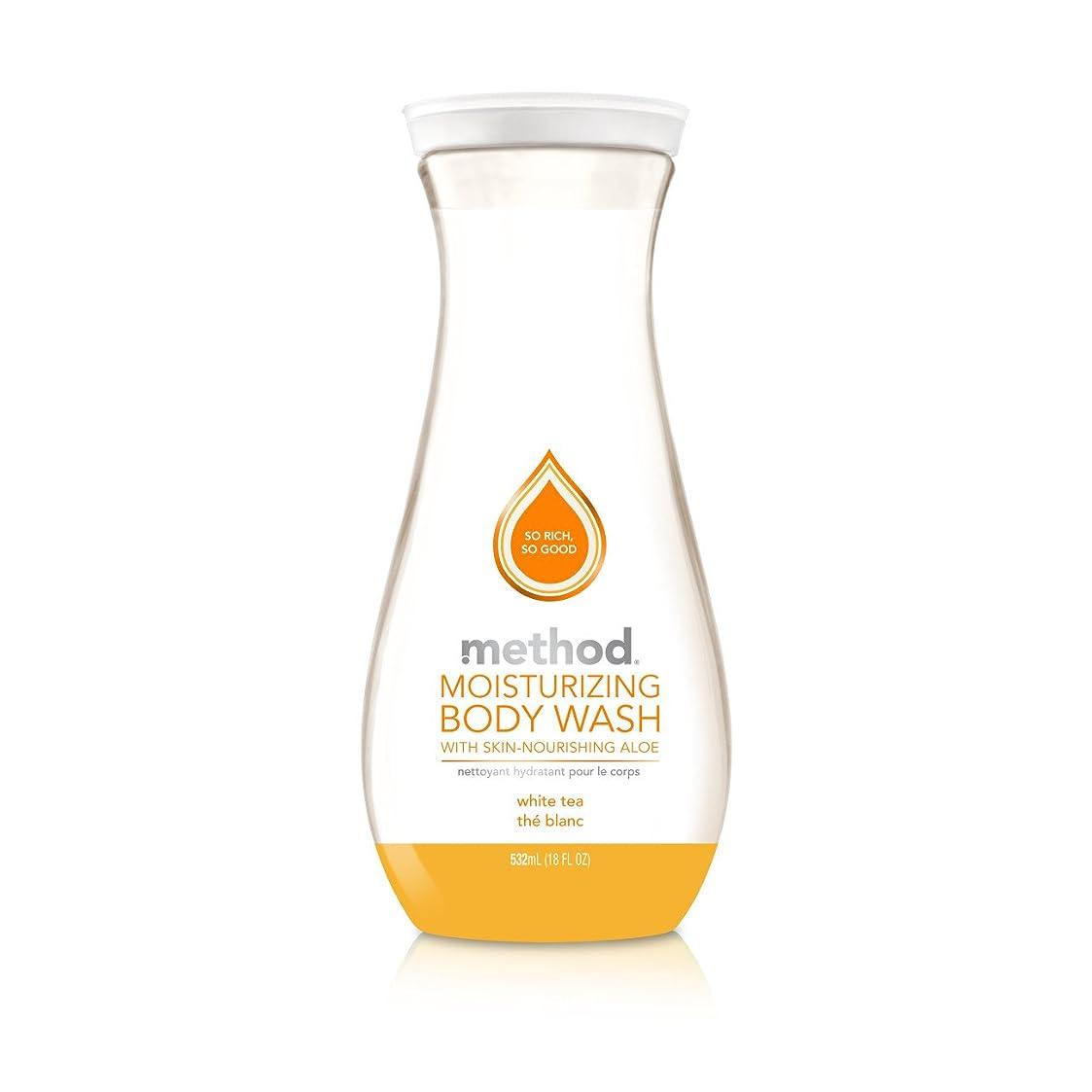 ミッション足首メタンMethod Pure Naked Moisturizing Body Wash, White Tea, 18 Ounce (Packaging may vary) by Method