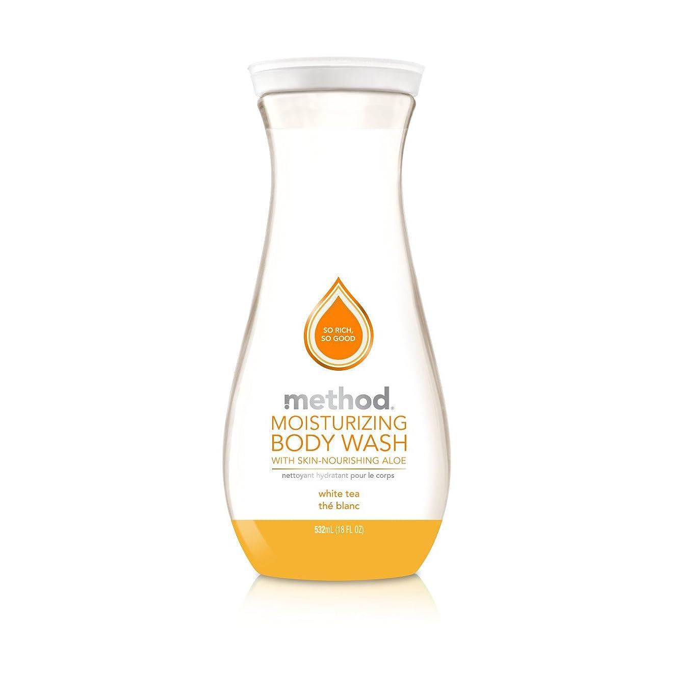 黄ばむチャーミング地理Method Pure Naked Moisturizing Body Wash, White Tea, 18 Ounce (Packaging may vary) by Method