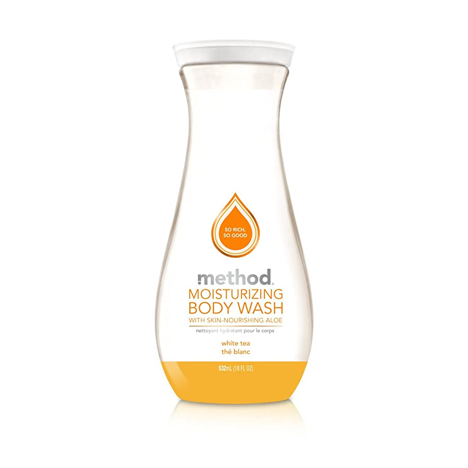 ギャロップバングラデシュ送料Method Pure Naked Moisturizing Body Wash, White Tea, 18 Ounce (Packaging may vary) by Method