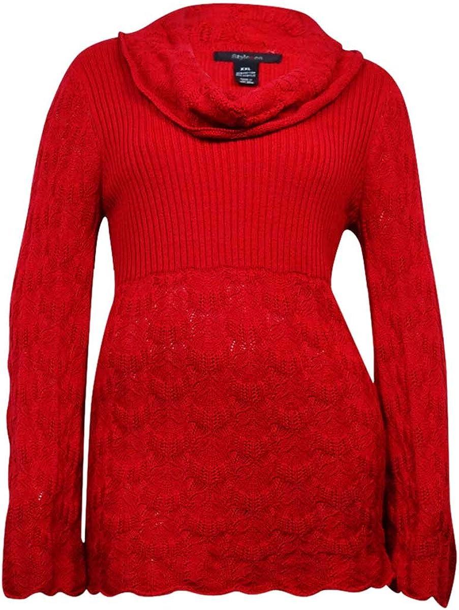 Style & Co. Women's Babydoll Long Sleeve Sweater