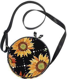 Emoya Umhängetasche/Handtasche aus Segeltuch, mit Sonnenblumen-Muster, Orange