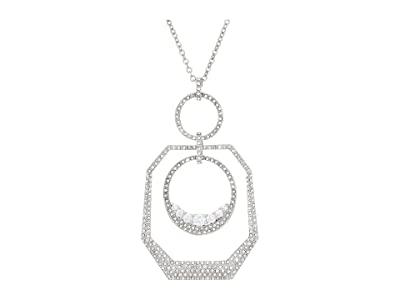 Vince Camuto 32 Statement Pendant Necklace (Rhodium/Crystal) Necklace