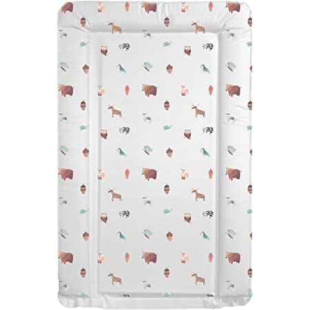 Deluxe Unisex Baby Waterproof Changing Mat with Raised Edges – Unique Beautiful Woodland Animals Design