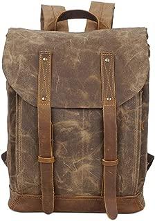 Men's Large Canvas Backpack School Laptop Bag Hiking Travel Rucksack Travel Daypack College Student Rucksack Backpack XFGBTJKYAUu (Color : Yellow, Size : OneSize)