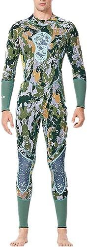 ChenYongPing Combinaison de plongée pour Homme Combinaison de Surf à Manches Longues pour Hommes avec Combinaison zippée dans Le Dos, Vert Combinaison intégrale pour Homme (Taille   L)